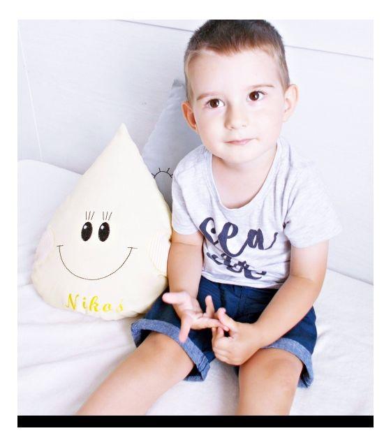 Poduszka dekoracyjna dla dziecka kropelka żółta