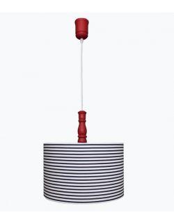 Lampa wisząca w ciemne granatowe paski