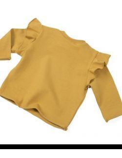 Flounce Shirt - Musztarda