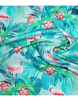 Otulacz Bambusowy Flamingi 140x150cm