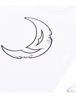 Białe body z długim rękawem - księżyc