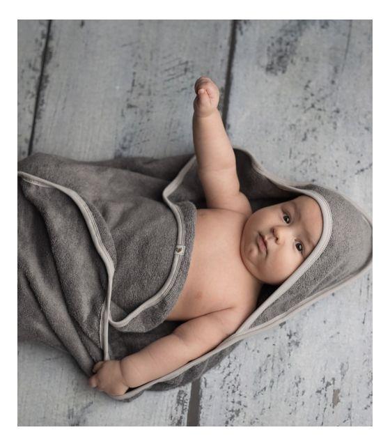 Ręcznik bambusowy szary 85x85cm