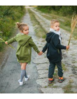 Płaszcz dziecięcy wiosenno-jesienny -oliwka