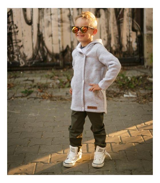 Płaszcz dziecięcy wiosenno-jesienny - szarobiały