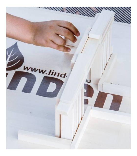 Dzięki drewnianej podstawce Linden każda konstrukcja będzie trwała.