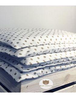Pościel Baby Dekor kropki - 90 cm x 120 cm - 100% bawełna Premium