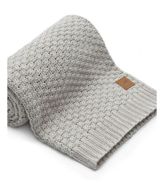 Mięciutki i delikatny kocyk tkany dla niemowląt i dzieci- beż