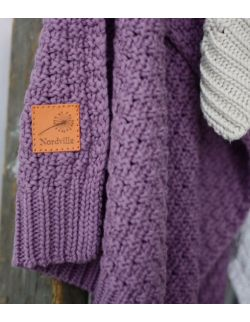 Mięciutki i delikatny kocyk tkany dla niemowląt i dzieci- fioletowy