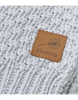 Mięciutki i delikatny kocyk tkany dla niemowląt i dzieci- jasny szary
