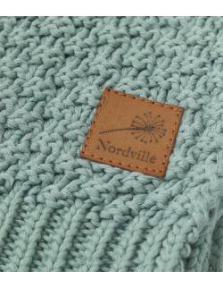 Mięciutki i delikatny kocyk tkany dla niemowląt i dzieci- zielony