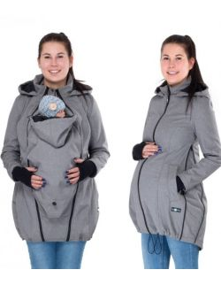 Ciążowy Płaszczyk softshell 3w1