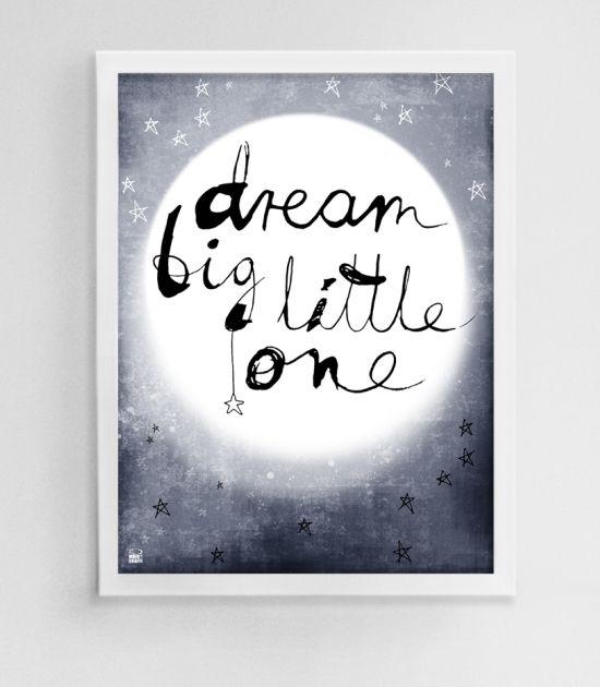 Plakat Do Pokoju Dziecka Ilustracja Dla Dzieci Księżyc