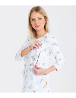 Bluzka ciążowa i do karmienia frilla white birds