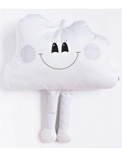 Poduszka  dekoracyjna chmurka z nóżkami personalizowana szara