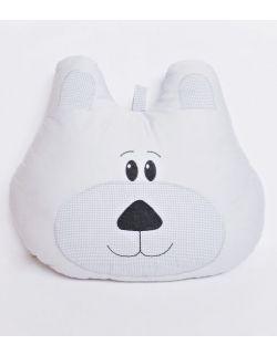 Poduszka miś duża z możliwością personalizacji szara