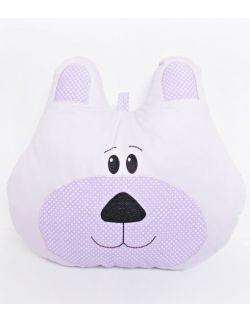 Poduszka miś duża z możliwością personalizacji fioletowa