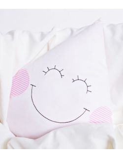 Poduszka dekoracyjna dla dziecka kropelka różowa