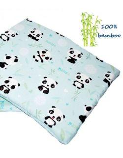 Otulacz bambusowy + podusia Panda 75x100cm