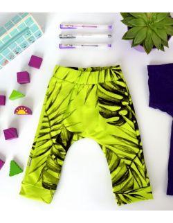 Spodnie dresowe Liście monstera