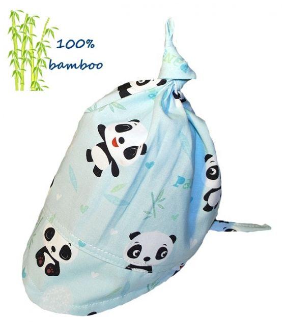 Chustka z daszkiem Bambusowa Panda
