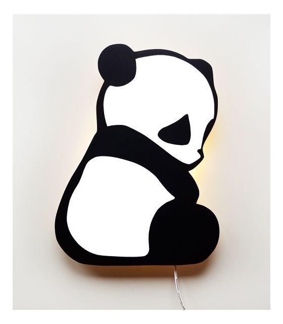Ścienna nocna lampka LED - Panda