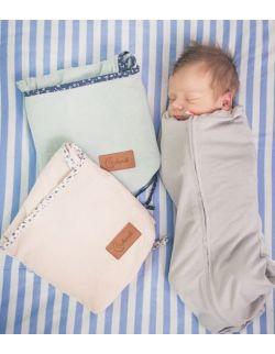 Kokonik z organicznym kołnierzykiem, szary, rozm.1: (2,5-5,5 kg) noworodek
