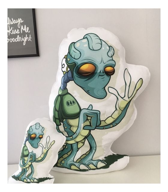 Poduszka Baby Dekor - Alien 100% bawełna