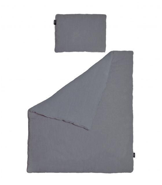 Pościel MUŚLIN ciemnoszara 75x100 cm