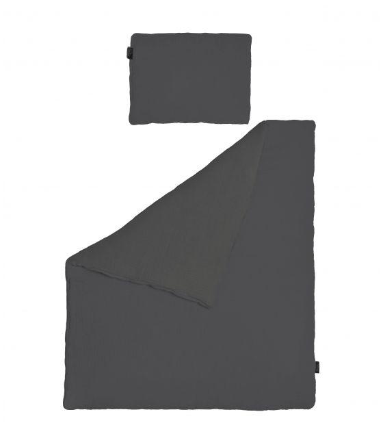 Pościel MUŚLIN grafit 75x100 cm
