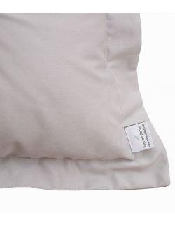 Poduszka na łóżko pikowana guzikami z falbankami szara