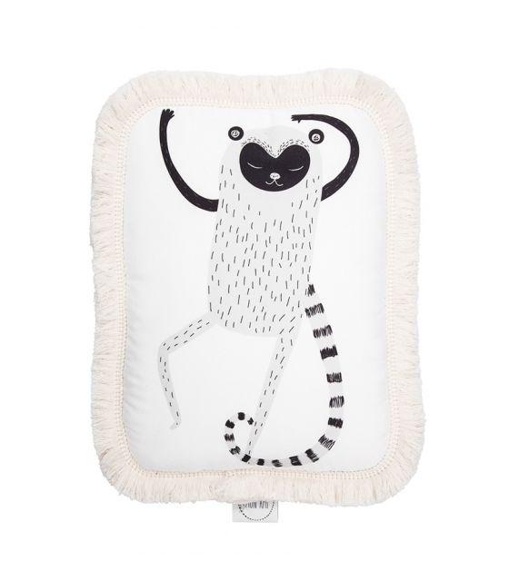 Poduszka ozdobna z frędzlami Lemur Leon