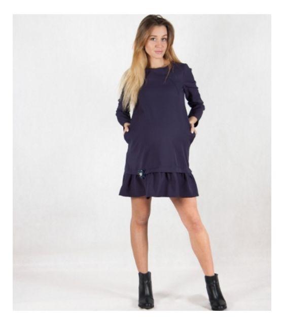 fad366f79e MamaBelle Sukienka ciążowa do karmienia Navy Blue ...