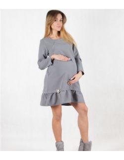 Sukienka ciążowa do karmienia Grey