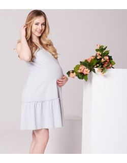 MamaBelle sukienka ciążowa i do karmienia Little Gray