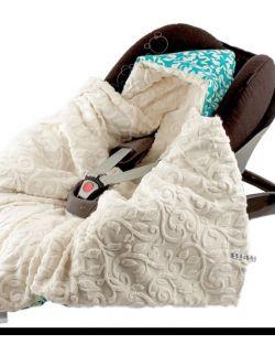 Kocyk do fotelika Bambusowy Zimowy Rozgwiazdy&vine ivory