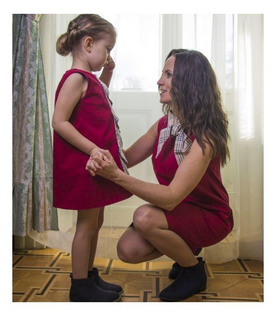68e3783528 Komplet sukienek dla mamy i córki - Princeski - LOVEMADE