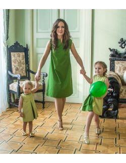 """Komplet sukienek dla mamy i córki - """"Zielono mi """""""