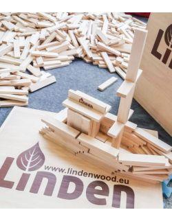 Drewniana podstawa blat do układania z klocków Linden
