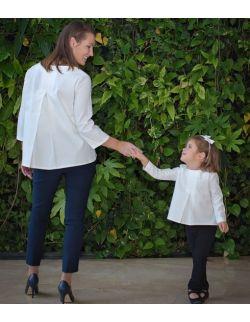 Komplet bluzek dla mamy i córki - kolorystyczne Trio