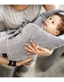 Rożek niemowlęcy Royal Baby Grey/Grey
