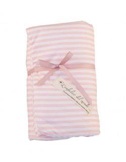 Kołderka niemowlęca Pink Stripes- Seria L'ombelico del Mondo