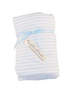 Kołderka niemowlęca Blue Stripes- Seria L'ombelico del Mondo