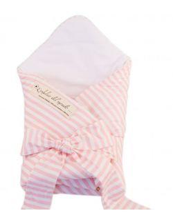 Rożek niemowlęcy Pink Stripes seria L'ombelico del mondo