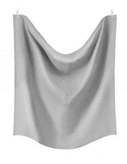Otulacz XL z podwójnego muślinu bawełnianego Myszaty Szary