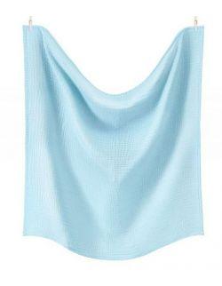 Otulacz XL z podwójnego muślinu bawełnianego Lazurowy Błękit