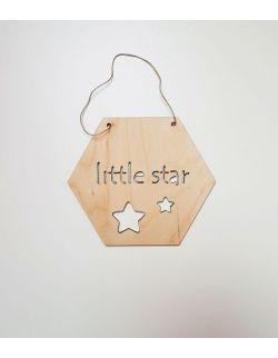 Drewniany proporczyk - Little Star