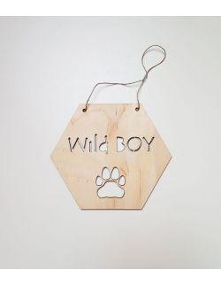 Drewniany proporczyk - Wild Boy