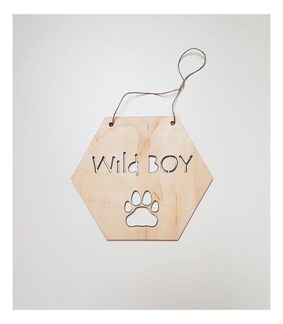 drewniany proporczyk ozdoba wild boy