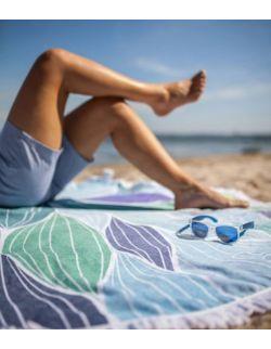 Okrągły ręcznik plażowy Bałtyk
