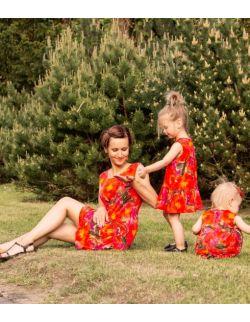 Sukienka Carla kwiaty- dorosła